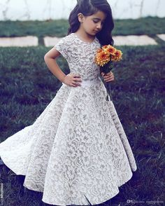 Said Mhamad 2016 New Lace Floor Length Flower Girls Dresses Jewel Neck Short Sleeve First Communion Dresses Girls Pageant Gown Custom Made Baby Girls Dresses Bridal Shoes Uk From Ourfreedom, $89.55| Dhgate.Com