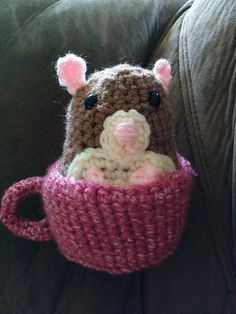 Ravelry: Hamster in a Cup pattern by Madeleine Cantu
