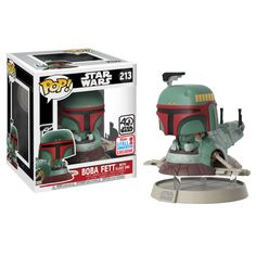 Funko POP! Vinyl Star Wars - Boda Fett with Slave One NYCC
