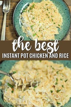 INSTANT POT CHICKEN AND RICE RECIPE Get dinner on the table fast with this Chicken and Rice Instant Pot Recipe. Ready in only 30 minutes, this Instant pot easy cheesy chicken and rice casserole is so simple and creamy. Instant Pot Chicken And Rice Recipe, Chicken Rice Recipes, Creamy Chicken And Rice, Easy Rice Recipes, Instant Pot Dinner Recipes, Dinner Recipes With Rice, Recipes Using Rice, Frozen Chicken Recipes, Healthy Recipes