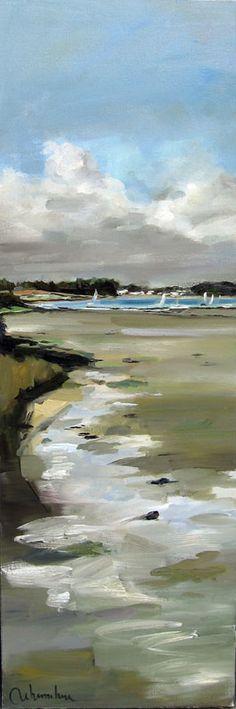 Christoff Debusschere  ARZON  Huile sur toile  120  x 40 cm / Oil on canvas  47,2 x 15,7  inches Vendue