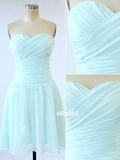 mint bridesmaid dress chiffon bridesmaid dress cheap by okbridal, $89.00