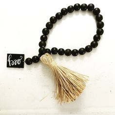 The BoHo Beads are jewelry for your home.  This wood bead garland is sure to add interest to any Halloween vignette.