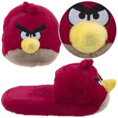 Angry Birds Slippers!  How cool are these?  It brings a whole new meaning to animal slippers with these cool Angry Birds slippers.