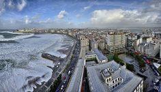 Ciclogénesis Cristina - A Coruña