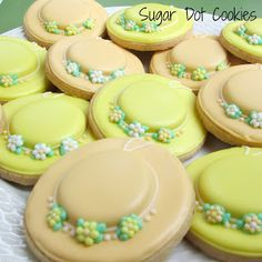 sugar fairy sweet: Kentucky Derby Bridal Shower Sugar Cookies with Royal Icing