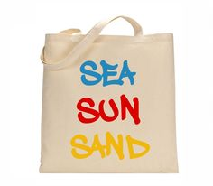Sea...sun...land...where ever your adventures take you - this tote can help!