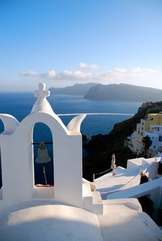View over the Cyclades, Greece by Despina Mousafiri ~ Bell tower in Oia, Santorini* Santorini Greece, Mykonos, Greek Isles, Going On A Trip, Paros, What A Wonderful World, Greece Travel, Crete, Wonders Of The World