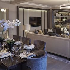 Openplan living and dining room