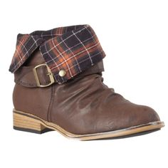 Bamboo Womens Parksville Cuffed Ankle Boot * See this great image  : Ladies boots