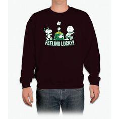 Feeling Lucky White Snoopy Crewneck Sweatshirt