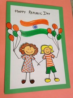 Craft Ideas for India Independence Day and Republic Day - Holiday - Buvizyon Independence Day Drawing, Independence Day Activities, Independence Day Greeting Cards, Happy Independence Day India, Independence Day Decoration, Handmade Greetings, Greeting Cards Handmade, 100 Diy Crafts, India Crafts