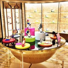 """HARRODS,London,UK, """"Put a 'Spring' in your step and take a walk on the wild side with Ferragamo's Collection"""", pinned by Ton van der Veer"""