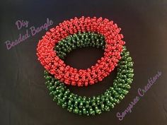 Beautiful Beaded Bangle ( Tubular Netting) - YouTube