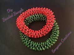 Beautiful Beaded Bangle ( Tubular Netting) - YouTube