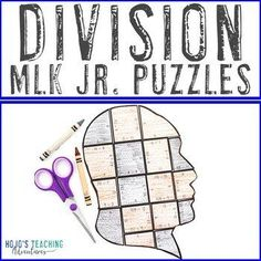 DIVISION Black History Month Math Puzzles | Martin Luther King Jr Activities |  3rd, 4th, 5th grade, Activities, Black History Month, Games, Homeschool, Martin Luther King Day, Math, Math Centers