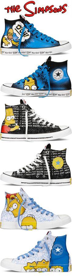 Coleção Simpsons para a Converse All Star.