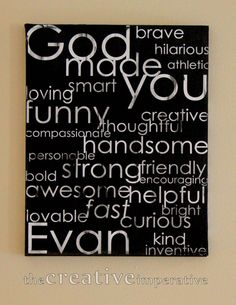 kids' name and many many of his/her amazing qualities!