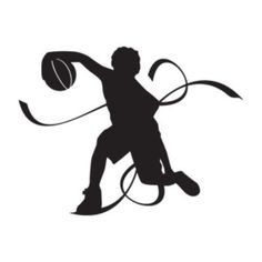 "Style and Apply Basketball Player Wall Decal Size: 62"" H x 46"" W, Color: Orange"
