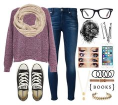 """""""Sweater Weather"""" by hallies-creations ❤ liked on Polyvore featuring 7 For All Mankind, French Connection, Ray-Ban, Converse, Jennifer Zeuner, maurices, BOBBY, Wet Seal, Dorothy Perkins and Lucky Brand"""