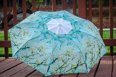 "Custom Designed Umbrella featuring floral print,41"" span,MANUAL Lightweight Umbrella,Flower Print,Flower Photography,Rain,Umbrellas"