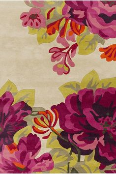 Brighten up a space with a floral area rug. #HDCrugs HomeDecorators.com
