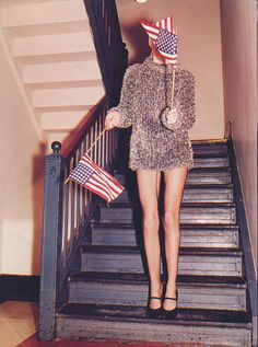 Terry Richardson shoots Georgina Cooper for the August 1997 issue of Harper's Bazaar