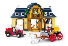 Sluban fra SBDanmark er et godt alternativ til de dyre klodser og er fuld ud kompatibel med mærker som f.eks Lego Heste Ranch http://www.sbdanmark.dk/index.php/town/horse-farm-m38-b0560