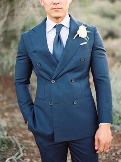 Double Breasted Jacket - 20 Stylish Grooms & Groomsmen Looks for a Wedding_pink with black lapel Groom And Groomsmen Looks, Groom Looks, Groom Outfit, Groom Attire, Groom Suits, Groom Wedding Pictures, Garden Wedding Inspiration, Wedding Ideas, Wedding Styles