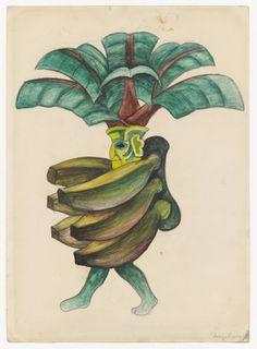 More Going Bananas. Diego Rivera.