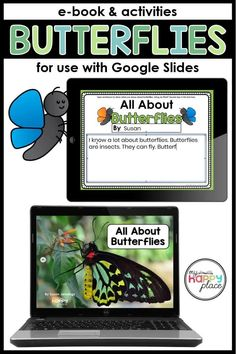 Perfect for use with Google Classroom, this Google Slides file includes and informational e-book and interactive butterfly activities for kindergarten and first grade. First Grade Science, Kindergarten Activities, Book Activities, Primary Science, Sequencing Activities, Preschool, Insect Activities, Butterfly Life Cycle, Learning Resources