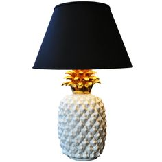 A Ceramic Table Lamp in Shape of Pineapple | From a unique collection of antique and modern table lamps at http://www.1stdibs.com/furniture/lighting/table-lamps/