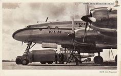 Schiphol, KLM, Royal Dutch Airlines Lockheed Constellation L-049 postcard