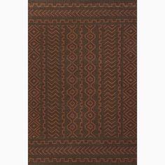 Handmade Tribal Pattern Brown/ Red Wool Rug (8 x 10)