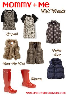 Fall clothes fashions for mother and daughter