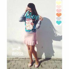 Candy colors  Moletom de flamingos  #lojaamei #amoohkei #pantone #candycolors #melissa