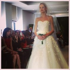 Carolinas collection was beyond. @houseofherrera #carolinaherrera #bridalmarket