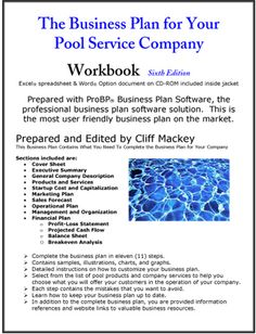 pool cleaning business plan sample