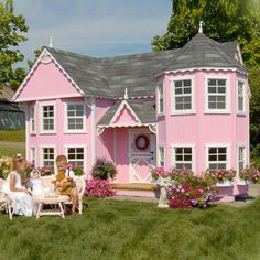 Would LOVE to have this for my daughter one day! Little Cottage Sara Victorian 8 x 16 Mansion Wood Playhouse - Outdoor Playhouses at Play Houses Kids Indoor Playhouse, Playhouse Kits, Build A Playhouse, Cedar Playhouse, Childrens Playhouse, Backyard Playhouse, Castle Playhouse, Playhouse Interior, Backyard Kids