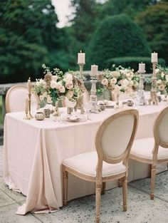 Channel Your Inner Princess with This Ethereal Castle Wedding Inspiration Wedding Arrangements, Wedding Table Settings, Wedding Reception Decorations, Wedding Themes, Wedding Centerpieces, Wedding Events, Table Decorations, Wedding Ideas, Floral Arrangements
