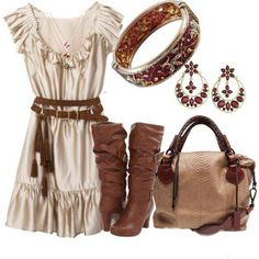 LOLO Moda: Fashionable women dresses 2013 I have those boots and wear them often...love
