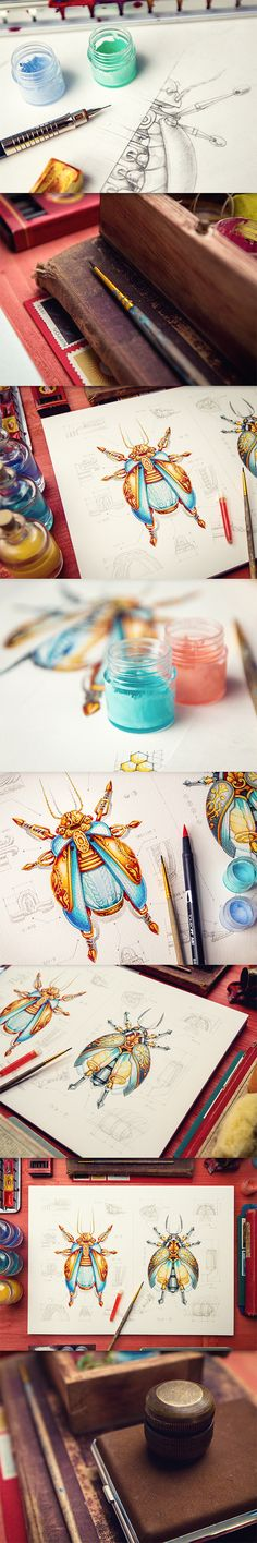 Mike on Behance - fantastic line work and coloring. https://www.behance.net/creativemints