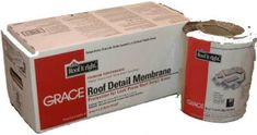 Grace 55279 9 in. x 50 ft. Roof Detail Membrane, As Shown Shed Roof, House Roof, Steel Roofing, Tin Roofing, Modern Roofing, Cool Roof, Roof Detail, Roof Covering, Roof Architecture