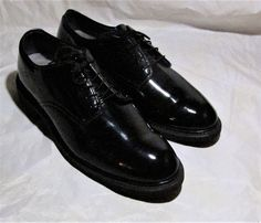 CAPPS US MILITARY ISSUE DRESS SHOES HIGH GLOSS BLACK 9 1/2 C USA ARMY WEDDING #Capps #DressShoes