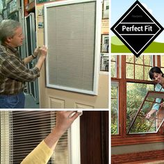 Perfect fit blinds offer a revolutionary way of installing blinds without the need for drilling or screwing. The frame fits neatly between the glazing and beading of uPVC doors and windows, covering any gaps where light could enter through to provide improved privacy and insulation.