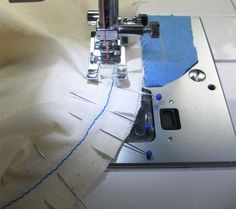 seam stitched on seam line