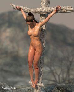 Sarah crucified 002 by SkatingJesus