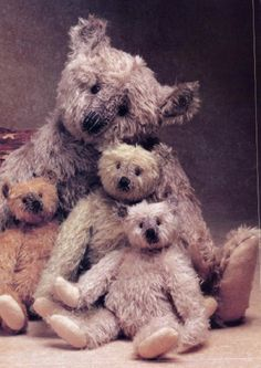 old, well loved bears