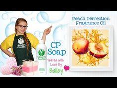 Soap Testing Peach Perfection Fragrance Oil- Natures Garden #fragranceoilforsoapmaking #peachfragranceoil #soapscents