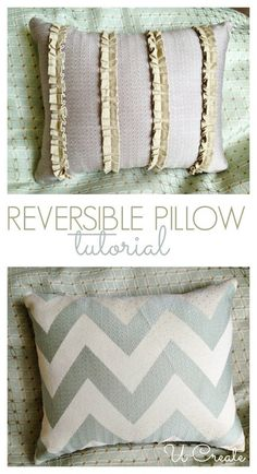 Reversible Pillow Tutorial by U Create - only 15 minutes to do this!